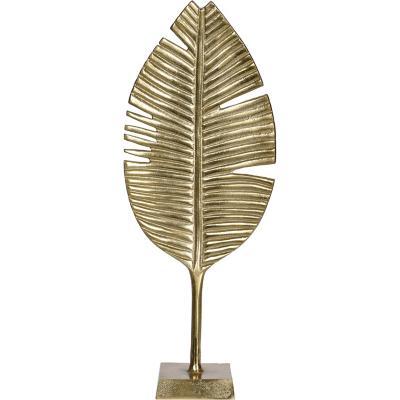 Adorno hoja dorado 55 cm