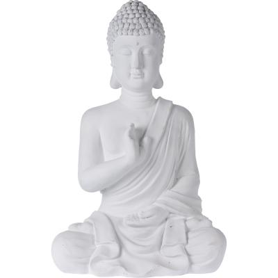 Buda sentado cemento 54 cm blanco