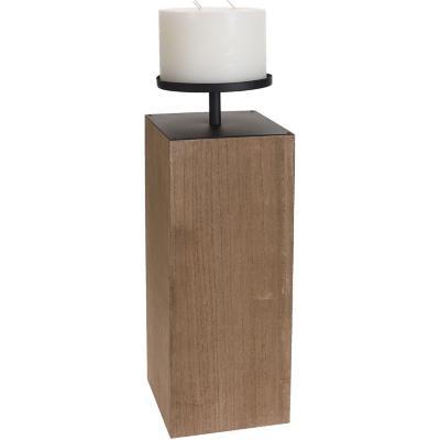 Candelabro torre madera 57 cm