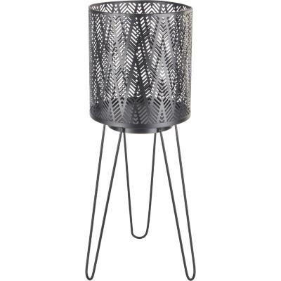 Portamacetero metal color negro 14x14x39 cm
