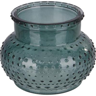 Porta tealight de vidrio 16 cm color verde