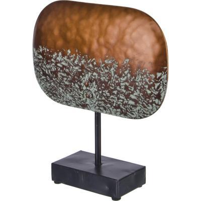 Totem decorativo metálico color cobre 30 cm