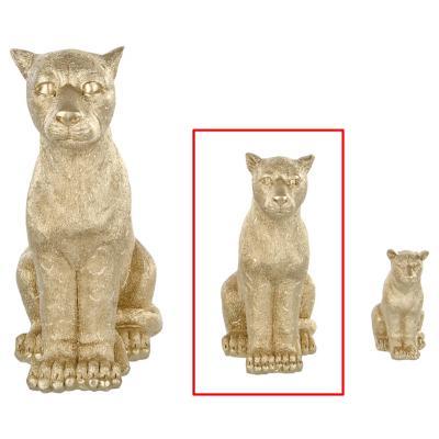 Figura decorativo leopardo dorado 20 cm