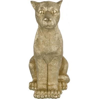 Figura decorativo leopardo dorado 10 cm