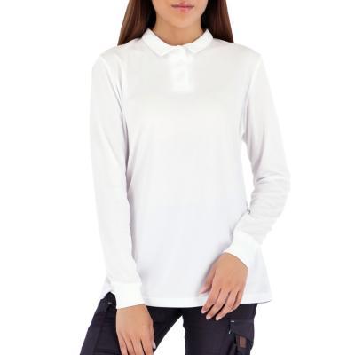 Polera cooldry manga larga mujer blanco S
