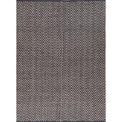 Bajada de cama woven zigzag 60x90 cm negro