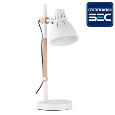 Lámpara de escritorio blanca