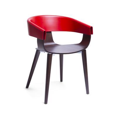 Sitial tonda 78x55x46 cm rojo