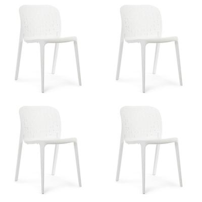 Set 4 sillas asubo 78x46x50 cm blanco