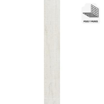 Porcelanato blanco 15x90 cm 1,22 m2