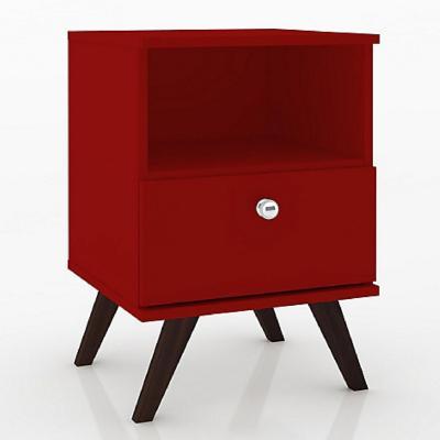 Velador 1 cajón 40x38x58 Rojo