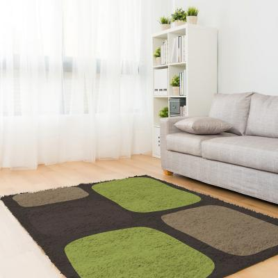 Bajada de cama shaggy  Roma 50x90 cm verde