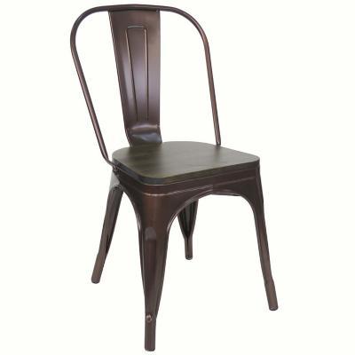 Set 2 silla antique rust cobre