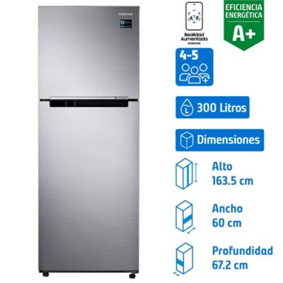 Refrigerador 300 litros no frost top mount freezer