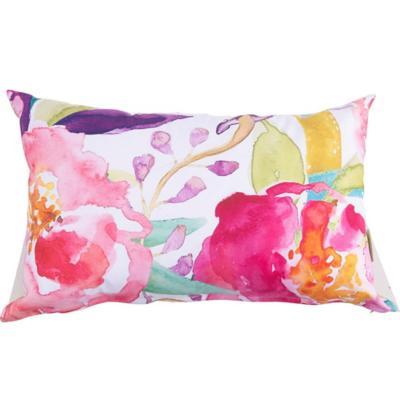 Cojín floral colores 50x33 cm