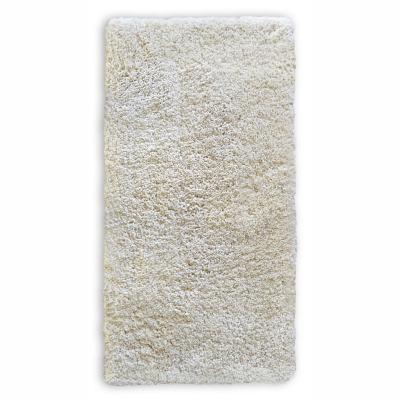 Alfombra shaggy lisa 133x180 cm blanco