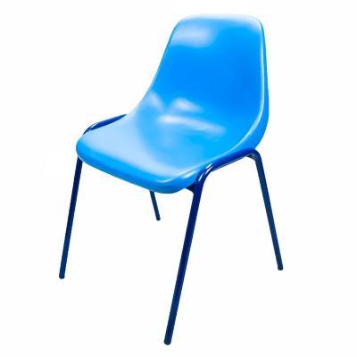 Silla polipropileno apilable azul 53x53x78 cm