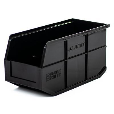 Contenedor plástico organizador negro
