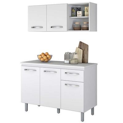 Kit Cocina Damasco (Mueble Aéreo + Mueble Base) Blanco-Ártico