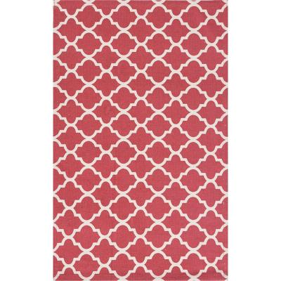 Bajada de cama dhurrie rombo 50x80 cm rojo