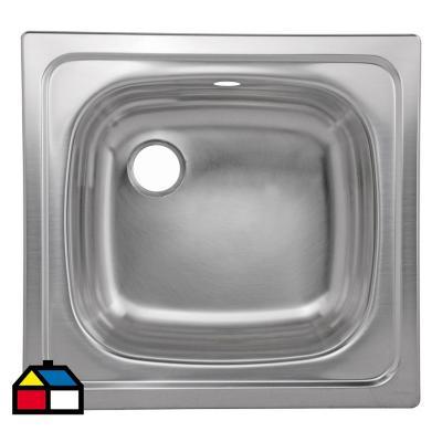 Lavaplatos 46,5x44x15 cm acero inoxidable