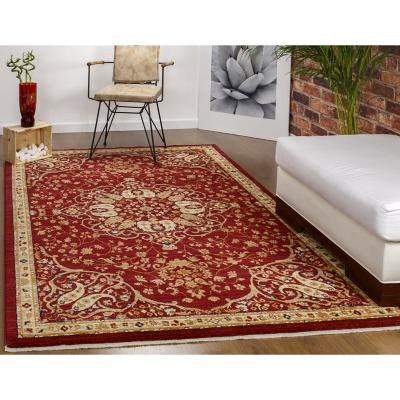 Alfombra oriental harem 152x233 cm Rojo
