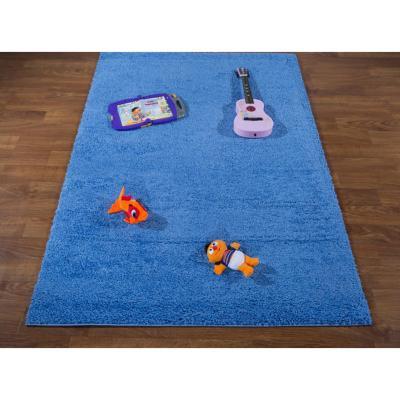 Alfombra pasillo shaggy star 80x244 cm azul