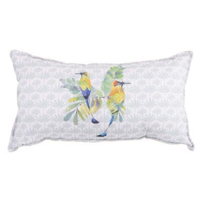 Cojín colibrí sobre palmas 55x30 cm