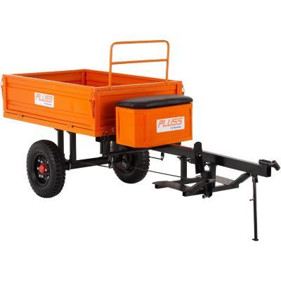 Carro de arrastre con descarga hidráulica 300 kg