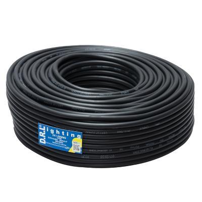 Cordón 3x0,75mm 100 metros H05VV-F negro