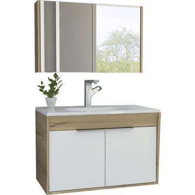 Botiquín mueble lavamanos flotante carter 80 - duna blanco
