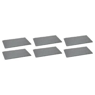 Set de 6 platos rectangulares 53x32 cm