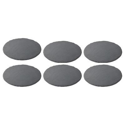 Set de 6 platos ovalados piedra pizarra 21x18 cm