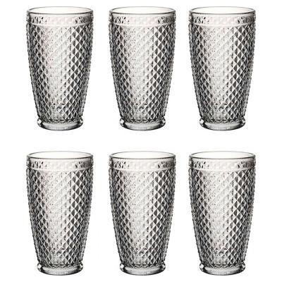 Set de 6 vasos de vidrio alto diablo 447 cc
