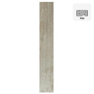 Piso vinílico SPC gris click 122x18 cm 2,2 m2