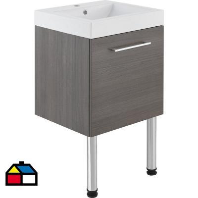 Kit mueble vanitorio Anton 50x45x55 cm café