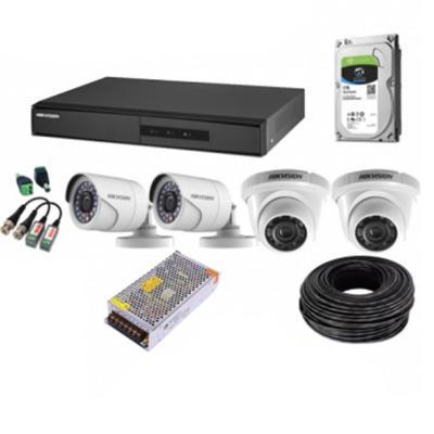 Kit DVR 4 canales / 4 cámaras HD / 1 TB HDD
