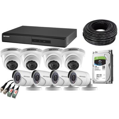 Kit DVR 8 canales / 8 cámaras HD / 1 TB HDD