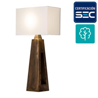 Lámpara mesa shangrilla madera 1 luz