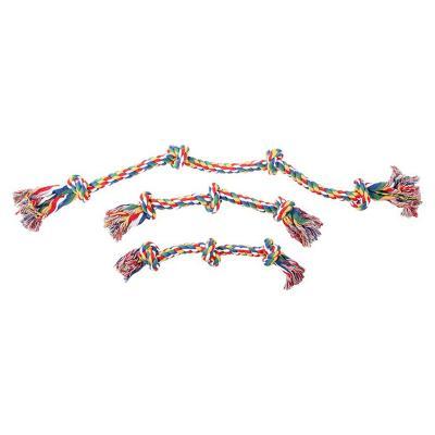 Cuerda nudos para perro 40 cm multicolor