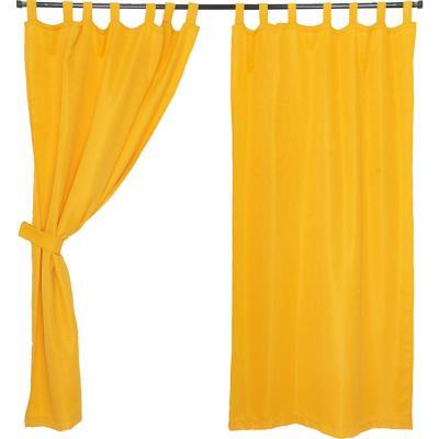Set cortinas jacquard nogal 140x220 cm amarillo