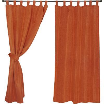 Set cortinas jacquard nogal 140x220 cm terracota