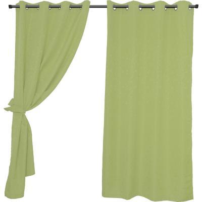 Set cortinas jacquard Isabella 140x220 cm verde