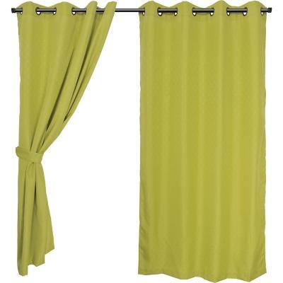 Set cortinas jacquard Sofía 140x220 cm musgo