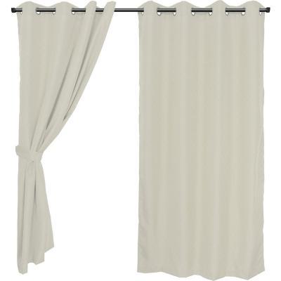 Set cortinas jacquard Sofía 140x220 cm crema