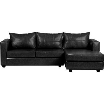 Seccional 265x130x95 cm negro