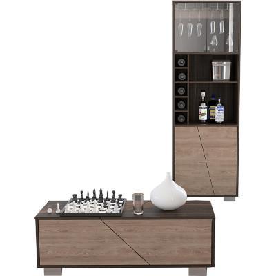 Set bar + mesa de centro habano/miel