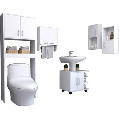 Set 5 muebles de baño blanco