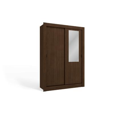 Clóset 2 puertas 2 cajones madera café