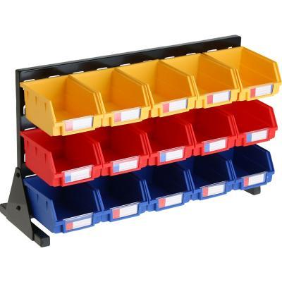 Panel de acero 54x33 cm con 15 cajas organizadoras